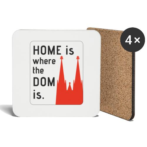 Home is where the Dom is - Untersetzer (4er-Set)
