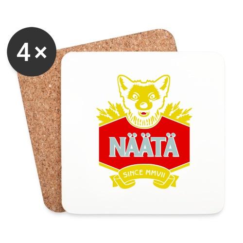 Näätä - Lasinalustat (4 kpl:n setti)
