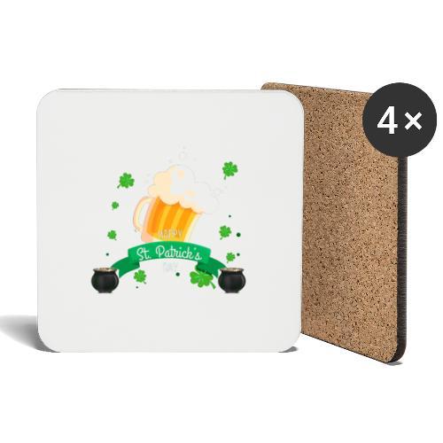 Happy St Patrick's tee shirt - Dessous de verre (lot de 4)