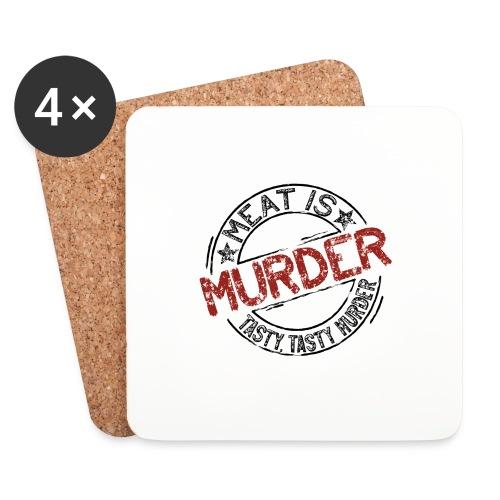 Meat is murder dunkel - Untersetzer (4er-Set)