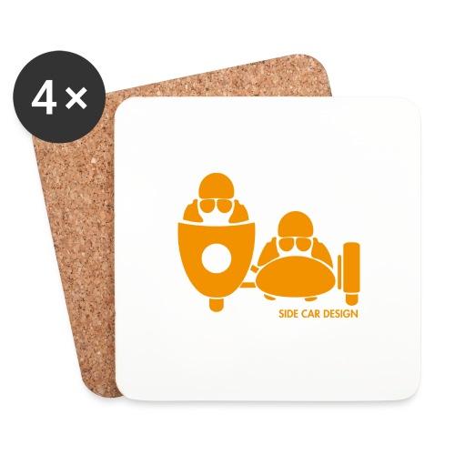 BASSET LOGO orange - Dessous de verre (lot de 4)