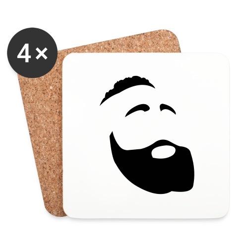 Il Barba, the Beard black - Sottobicchieri (set da 4 pezzi)