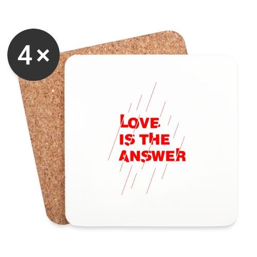 Love is the answer - Sottobicchieri (set da 4 pezzi)