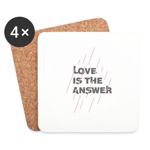 LOVE IS THE ANSWER 2 - Sottobicchieri (set da 4 pezzi)