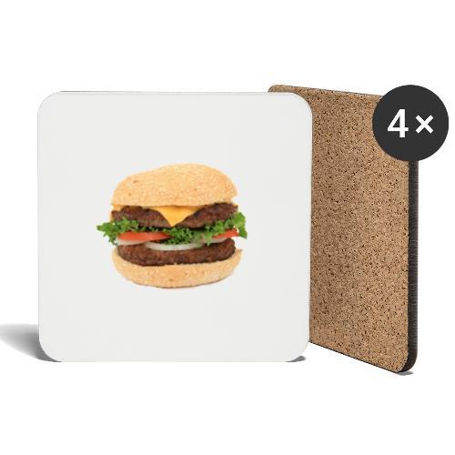 hampurilainen iso - Lasinalustat (4 kpl:n setti)