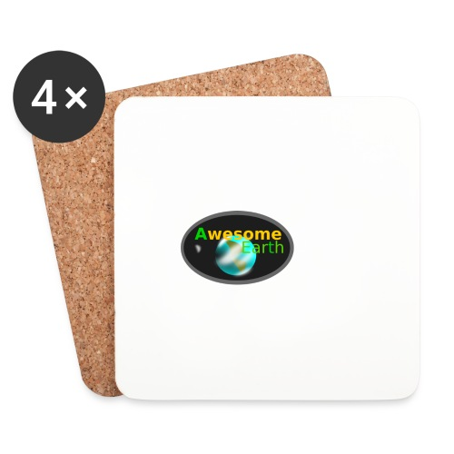 awesome earth - Coasters (set of 4)