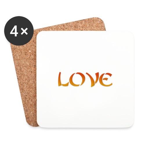 LOVE - Sottobicchieri (set da 4 pezzi)