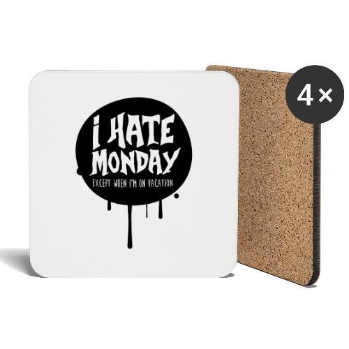 je déteste le lundi - Dessous de verre (lot de 4)