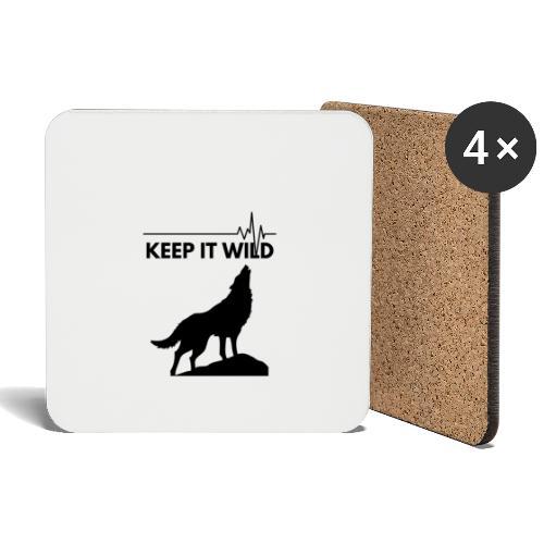 Keep it wild - Untersetzer (4er-Set)