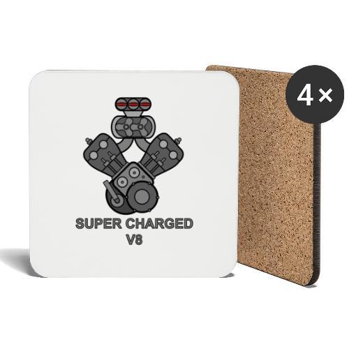 V8 SUPER CHARGED - Sottobicchieri (set da 4 pezzi)