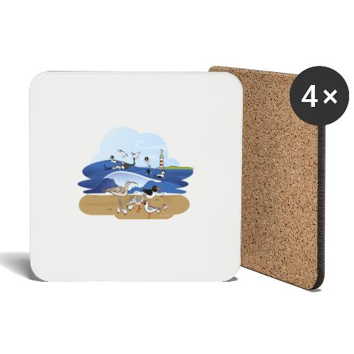 See... birds on the shore - Coasters (set of 4)