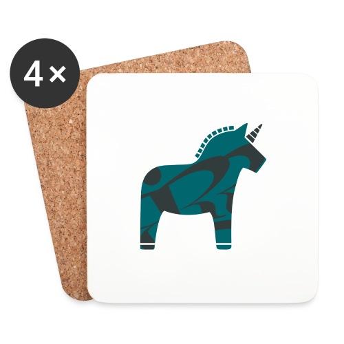 Swedish Unicorn - Untersetzer (4er-Set)