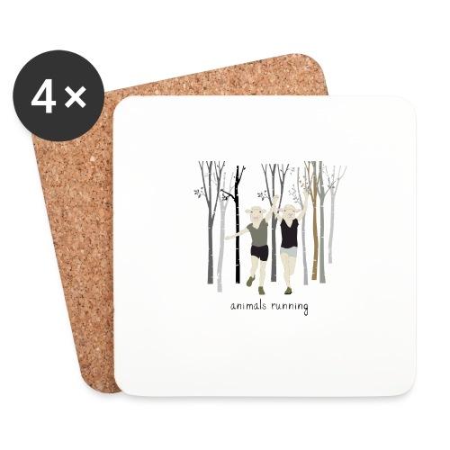 Moutons running - Dessous de verre (lot de 4)