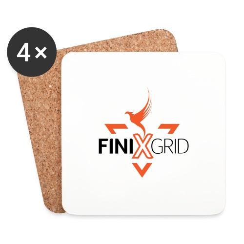 FinixGrid Orange - Coasters (set of 4)