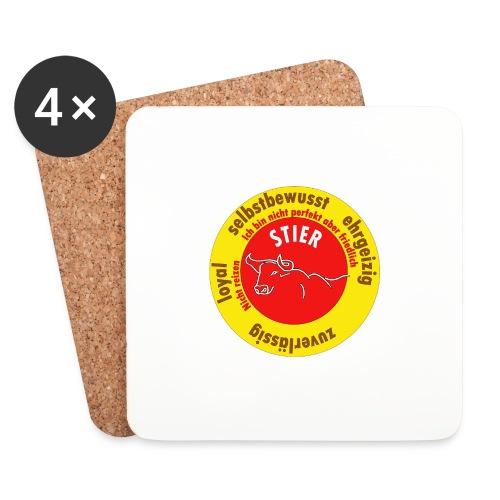 Stier Sternzeichen Logo Strich - Untersetzer (4er-Set)