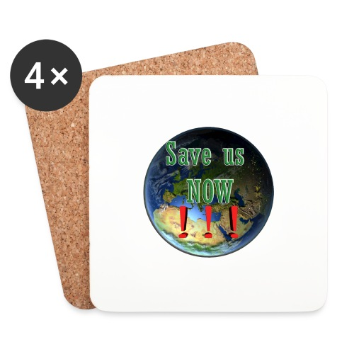 save us earth friday for future - Coasters (set of 4)