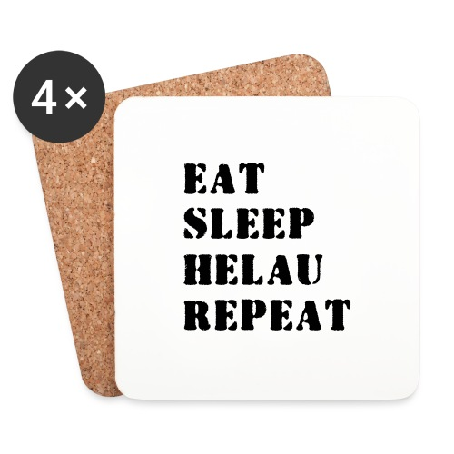 Eat Sleep Repeat - Helau VECTOR - Untersetzer (4er-Set)