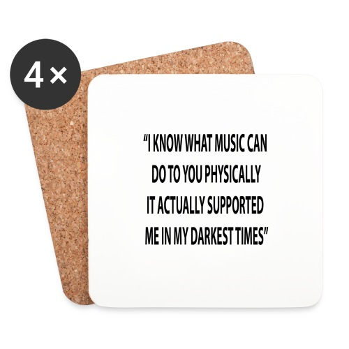 Quote RobRibbelink physically Phone case - Coasters (set of 4)