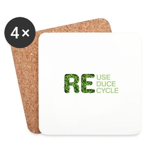 REuse REduce REcycle - Sottobicchieri (set da 4 pezzi)