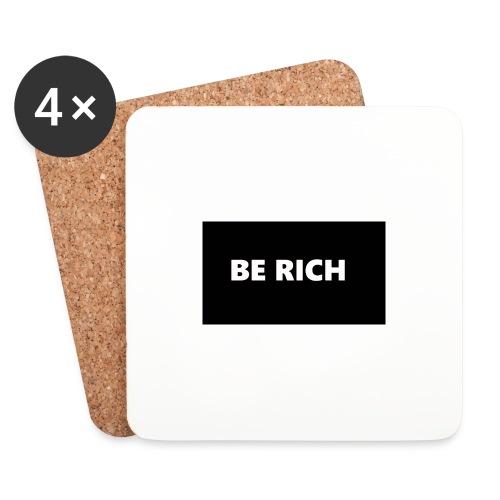 BE RICH REFLEX - Onderzetters (4 stuks)