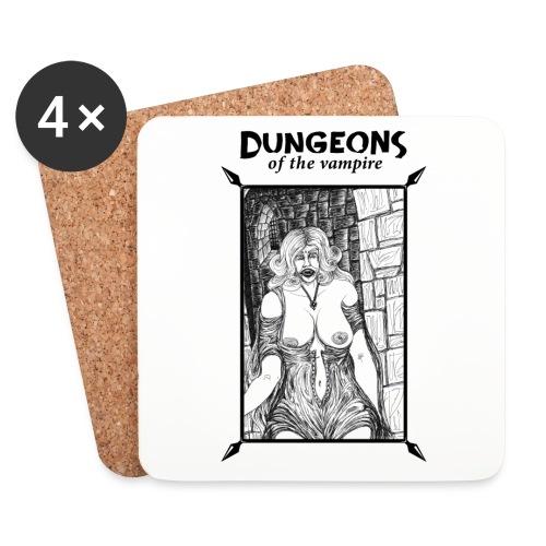 catacombs vampire black version - Coasters (set of 4)