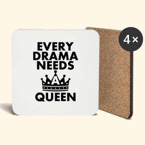 EVERY DRAMA black png - Coasters (set of 4)