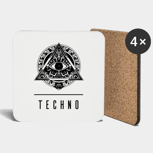 the EYE of TECHNO - Untersetzer (4er-Set)