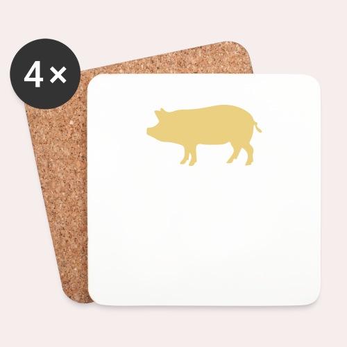 Nunca comas más de lo que puedas levantar - Posavasos (juego de 4)