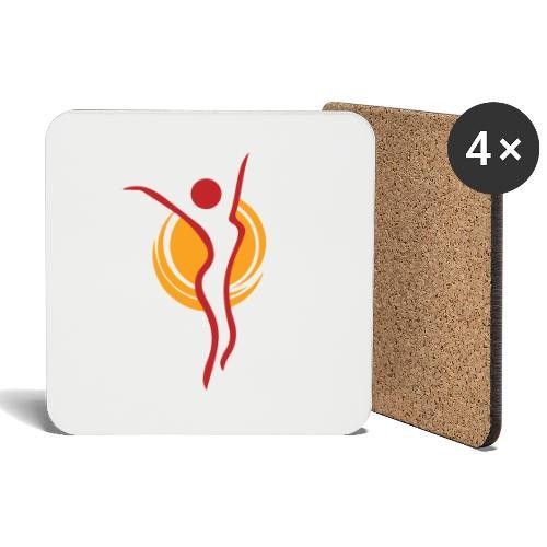 Kaisan Sporttiklubi ikoni - Lasinalustat (4 kpl:n setti)