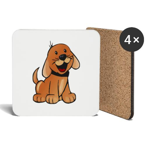 cartoon dog - Sottobicchieri (set da 4 pezzi)