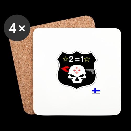 Paita logo selkä VÄRILLINEN png - Lasinalustat (4 kpl:n setti)