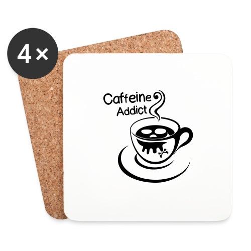 Caffeine Addict - Onderzetters (4 stuks)