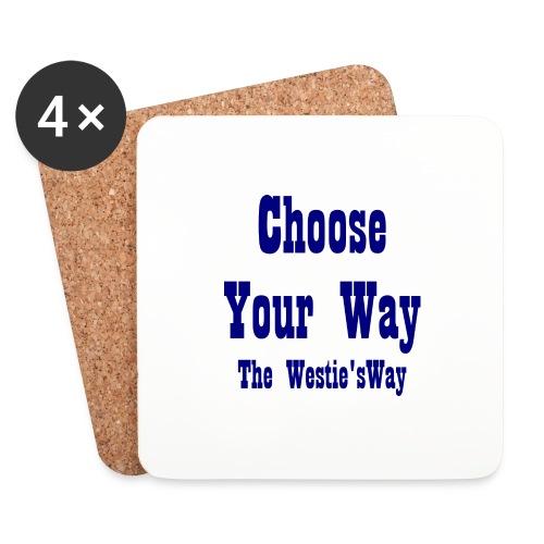 Choose Your Way Navy - Podstawki (4 sztuki w zestawie)