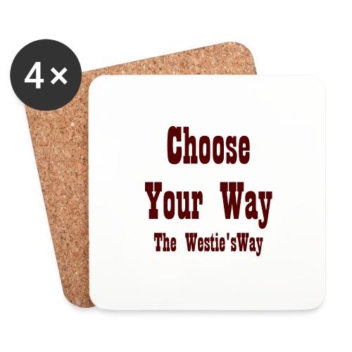 Choose Your Way Brown - Podstawki (4 sztuki w zestawie)