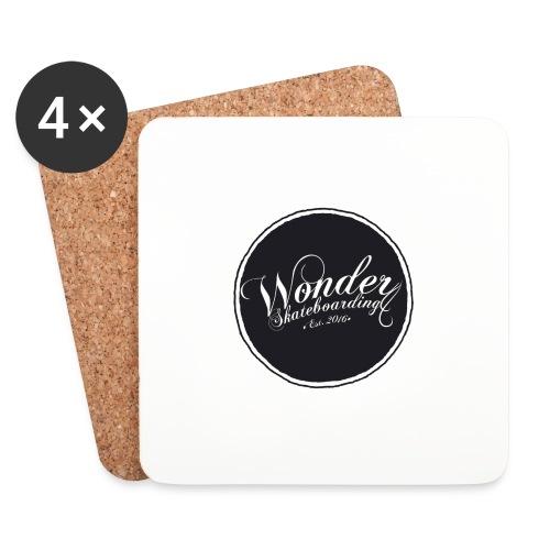 Wonder T-shirt - oldschool logo - Glasbrikker (sæt med 4 stk.)