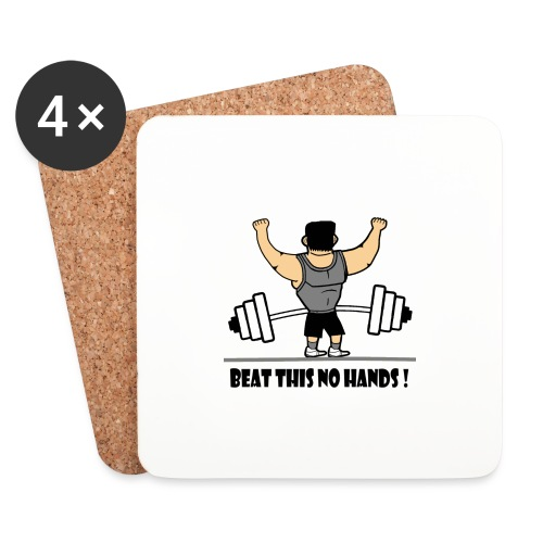 BEAT THIS NO HANDS ! - Coasters (set of 4)