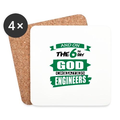 God Created Engineers - Coasters (set of 4)