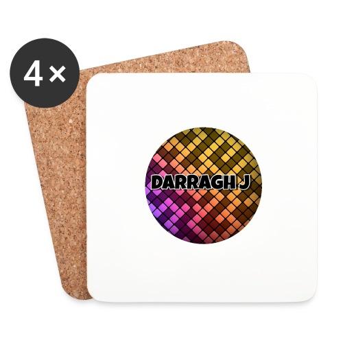Darragh J logo - Coasters (set of 4)