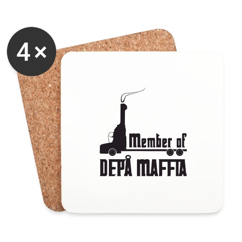 Depå Maffia svart tryck - Underlägg (4-pack)