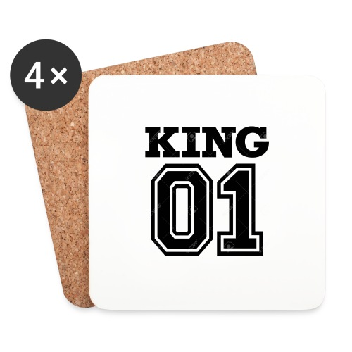 King 01 - Dessous de verre (lot de 4)