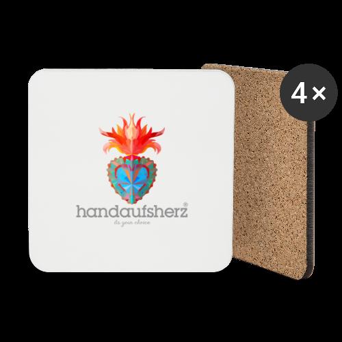 Hand aufs Herz - Untersetzer (4er-Set)