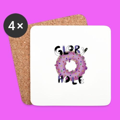 glory hole donut - Posavasos (juego de 4)