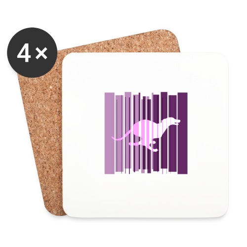 Sighthound In Purple Women's T - Coasters (set of 4)