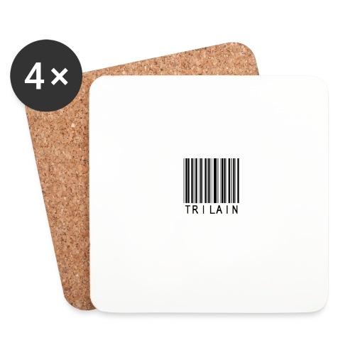 Trilain - Standard Logo T - Shirt White - Onderzetters (4 stuks)