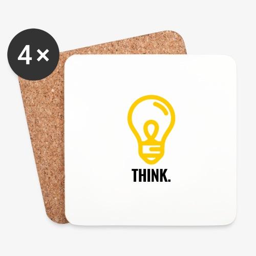 THINK - Sottobicchieri (set da 4 pezzi)