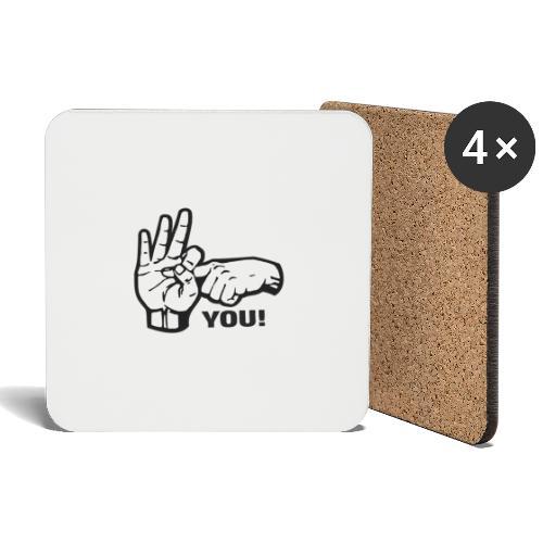 Fuck You - Untersetzer (4er-Set)