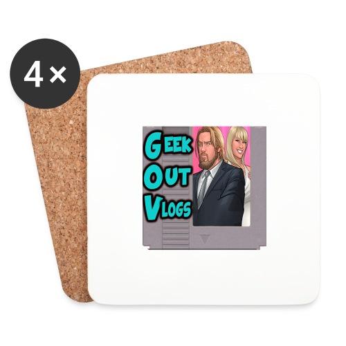 GeekOut Vlogs NES logo - Coasters (set of 4)