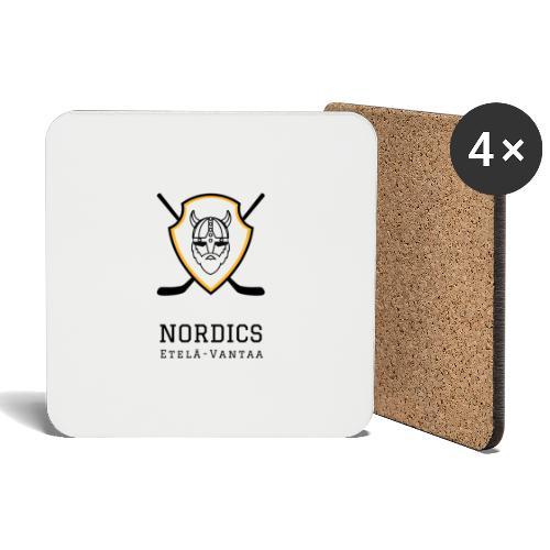 Etelä-Vantaan Nordics - Lasinalustat (4 kpl:n setti)