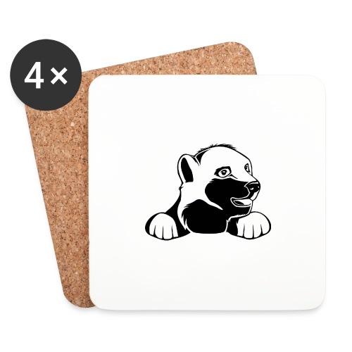 ijsbeer shirt - Onderzetters (4 stuks)