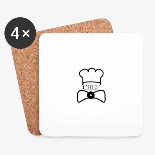 logo chef - Dessous de verre (lot de 4)